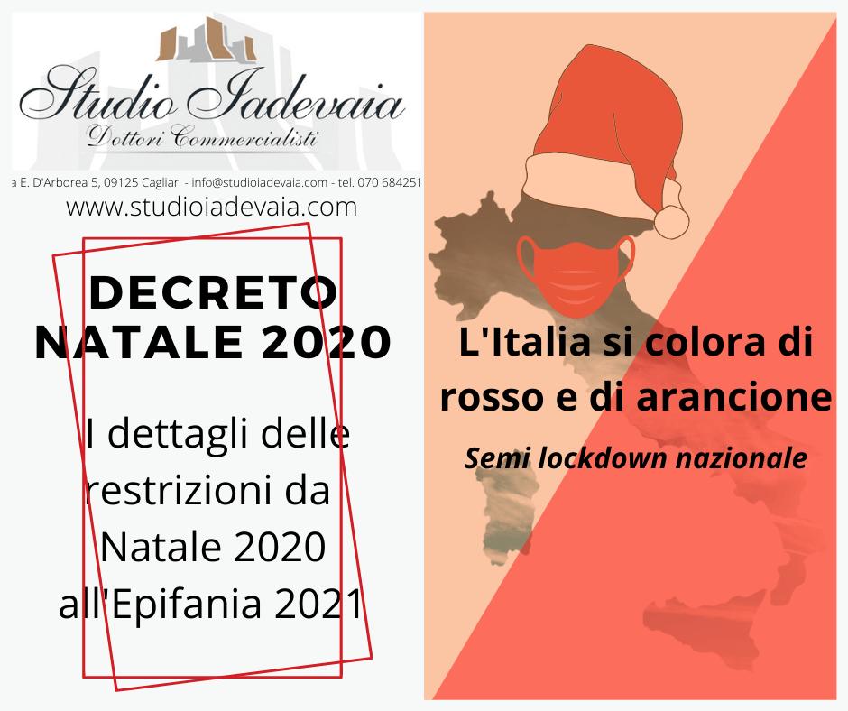 Decreto Natale 2020, l'Italia si colora di rosso e arancione