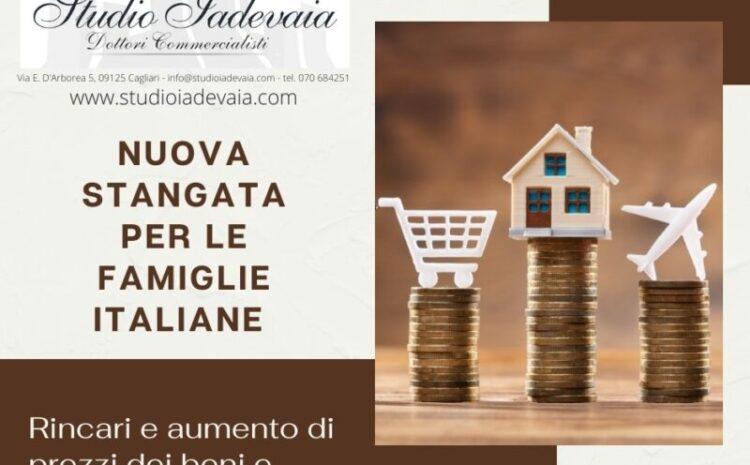 Previsti nel 2021 nuovi rincari e aumenti di prezzi di beni e servizi per i contribuenti italiani