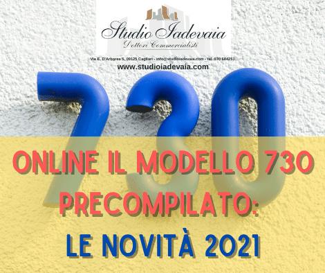ONLINE IL MODELLO 730 PRECOMPILATO: LE NOVITÀ 2021